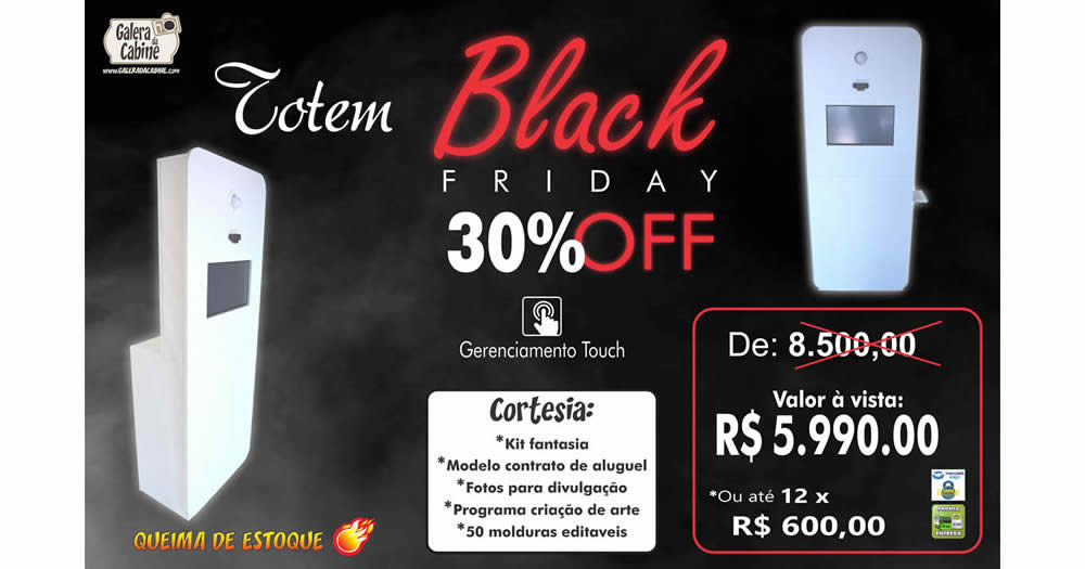 Black Friday Totem Fotográfico